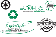 Communicate your eco-commitment and reduce your environmental impact with ink, paper, window and other options