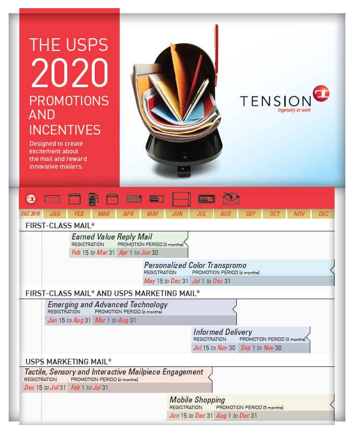 Tension USPS 2020 Promotions info sheet