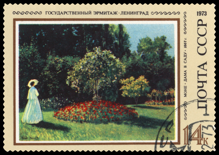 direct mail Monet stamp