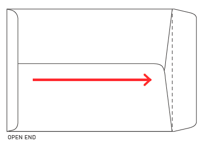 Image of an open end envelope