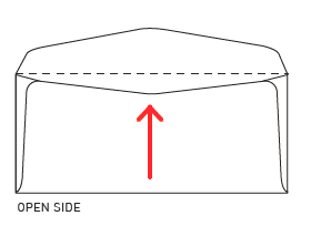 Image of an open side envelope
