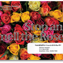 USPS 2020 TSI promotion rose scented envelope