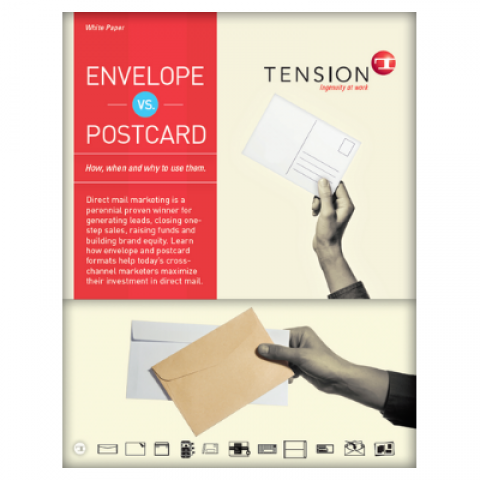 envelopes vs. postcards white paper