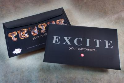 Exite Your Customers, Ignite Your Mail Envelopes