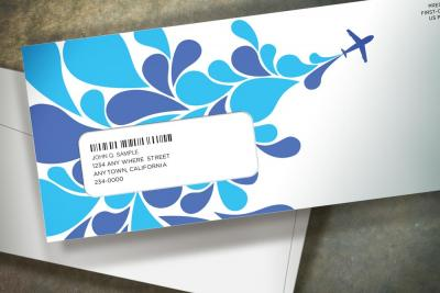 3-color flexographic #10 envelope