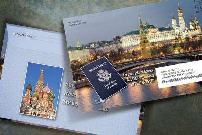 Russian vacation envelope