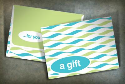 Seasonal gift card envelopes