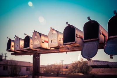 Row of mail boxes
