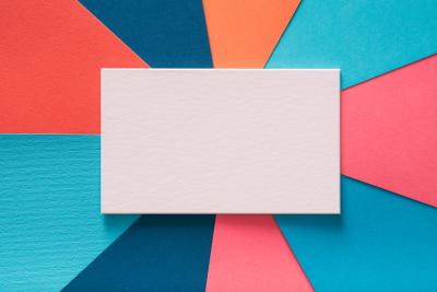 colored paper stock