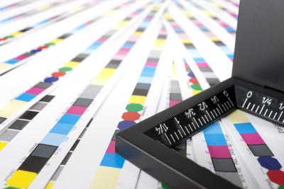 prepress and CMYK color chart
