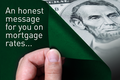 "Tension's Peel and Reveal mailpiece can be customized to unique mailers, like this ""cash"" themed mortgage rate reminder"
