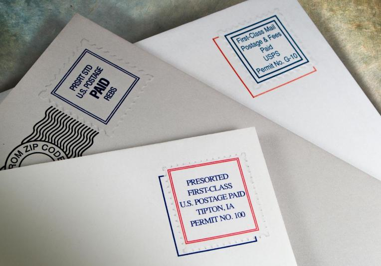 Embossed Indicia Envelopes