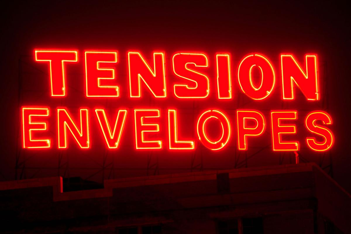 Tension Envelopes neon sign