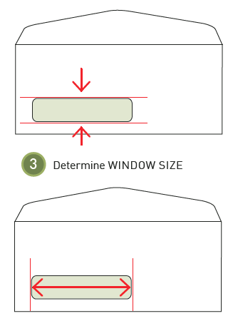 How to measure an envelope window step 3: Determine window size