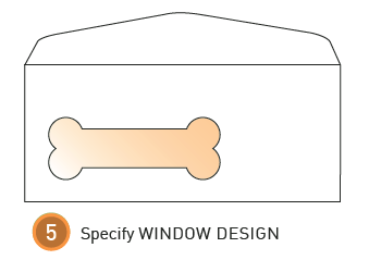 How to measure an envelope window step 5: Specify window design
